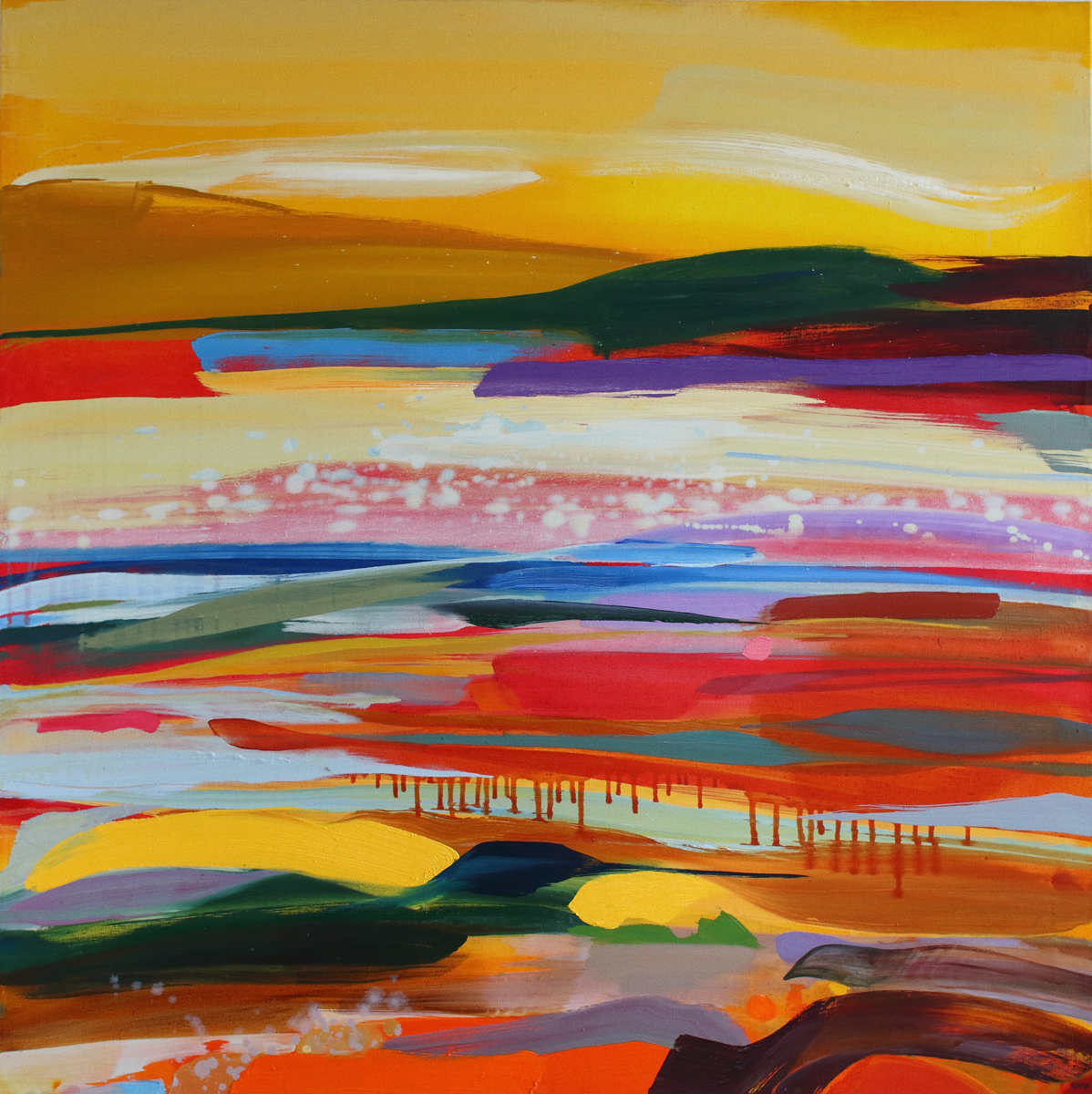 Landscape painting titled A Wider Sky by Shona Barr