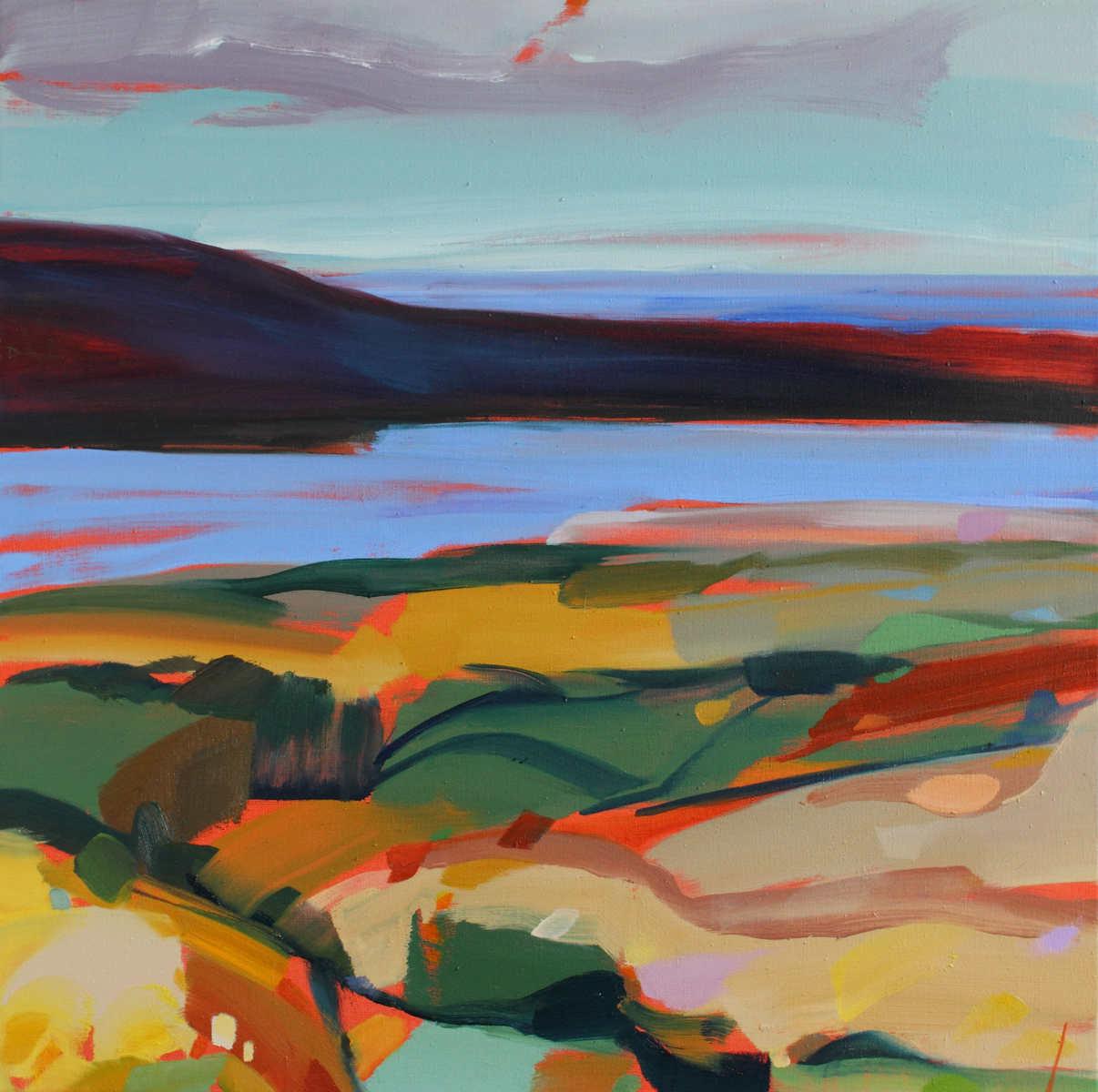 Seascape titled Distant Sea by Shona Barr