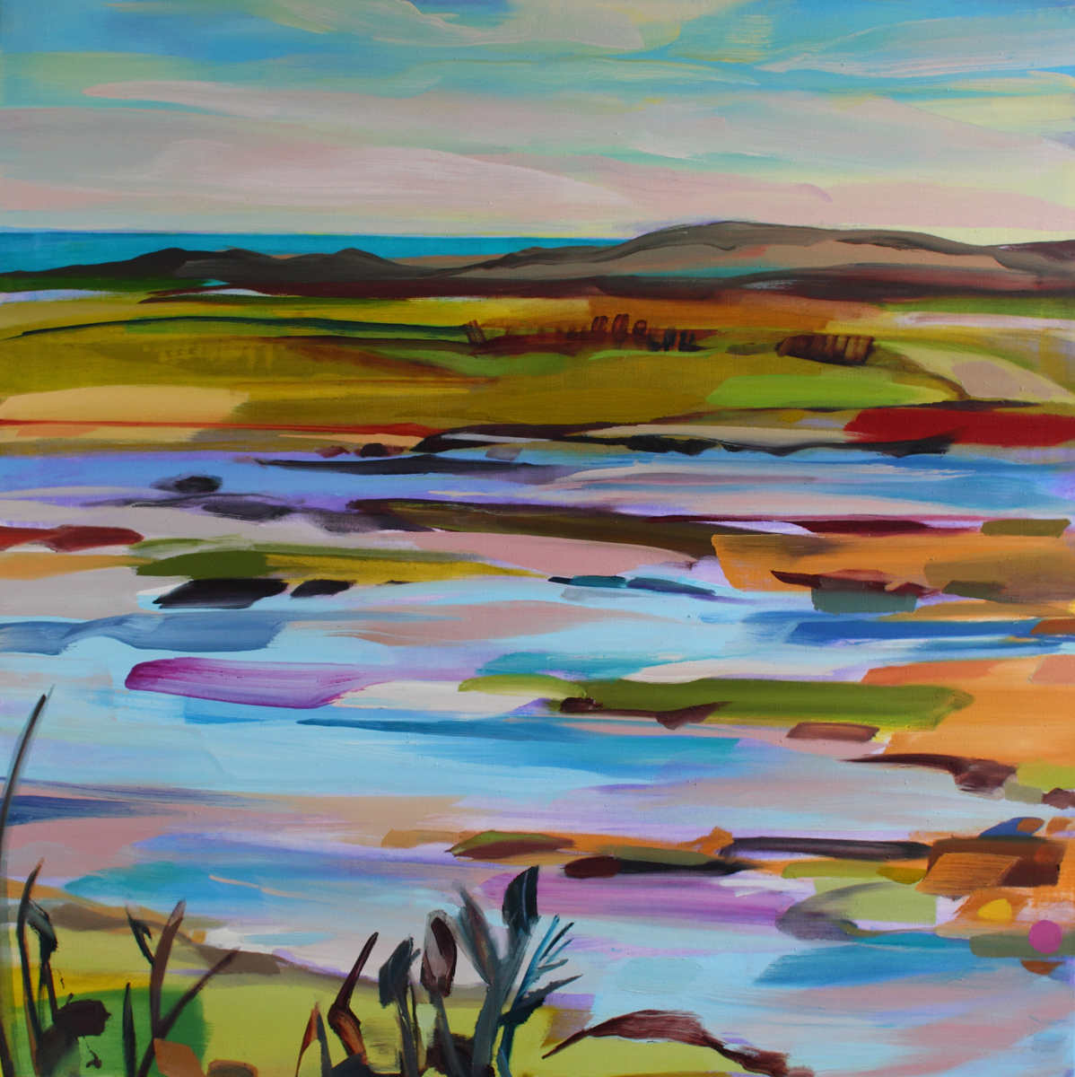 Oil painting titled Estuary