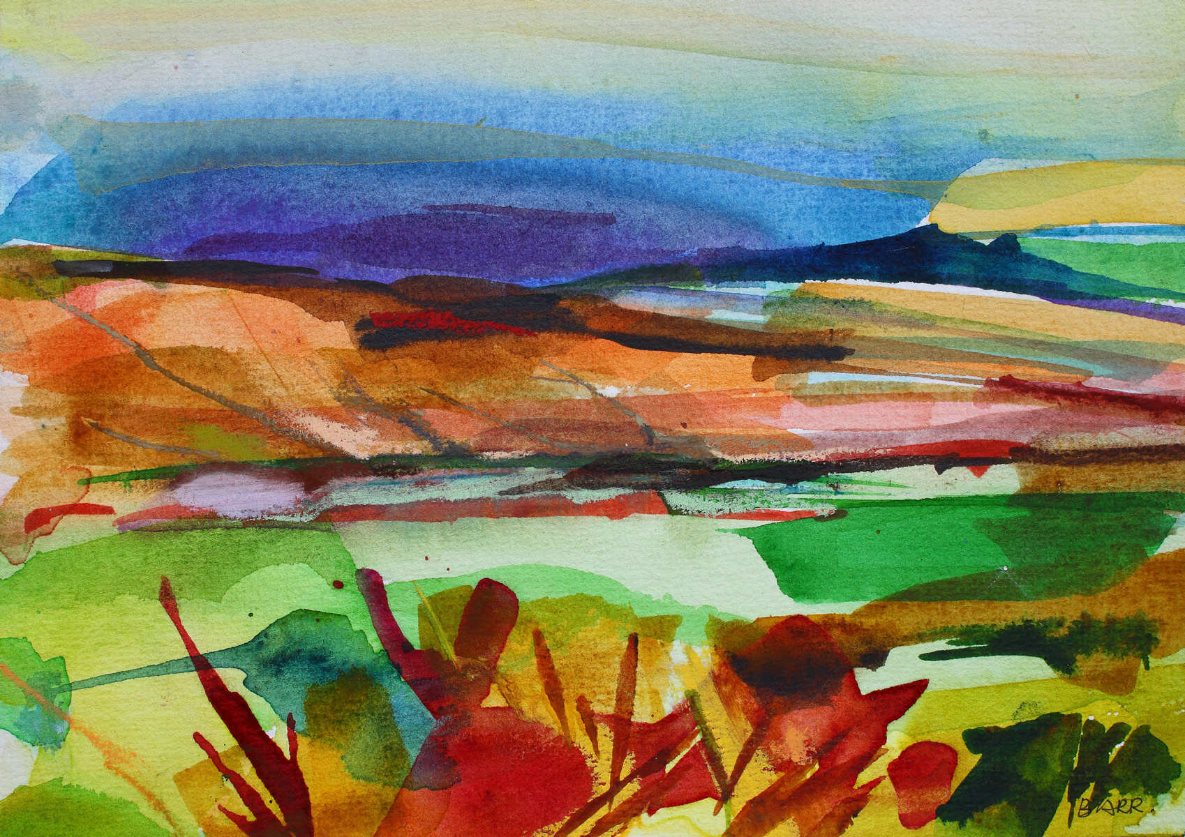 Watercolour titled 'From the Crow Road' by Shona Barr