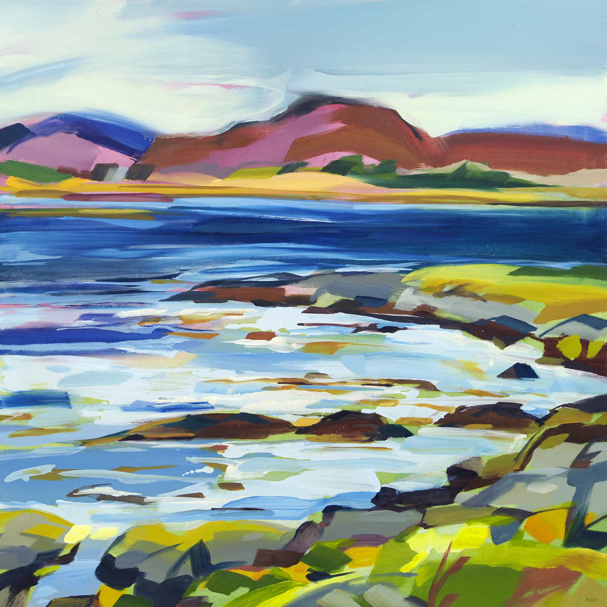 Painting titled Loch Na Cille by Shona Barr
