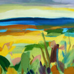 Painting titled Lush Field