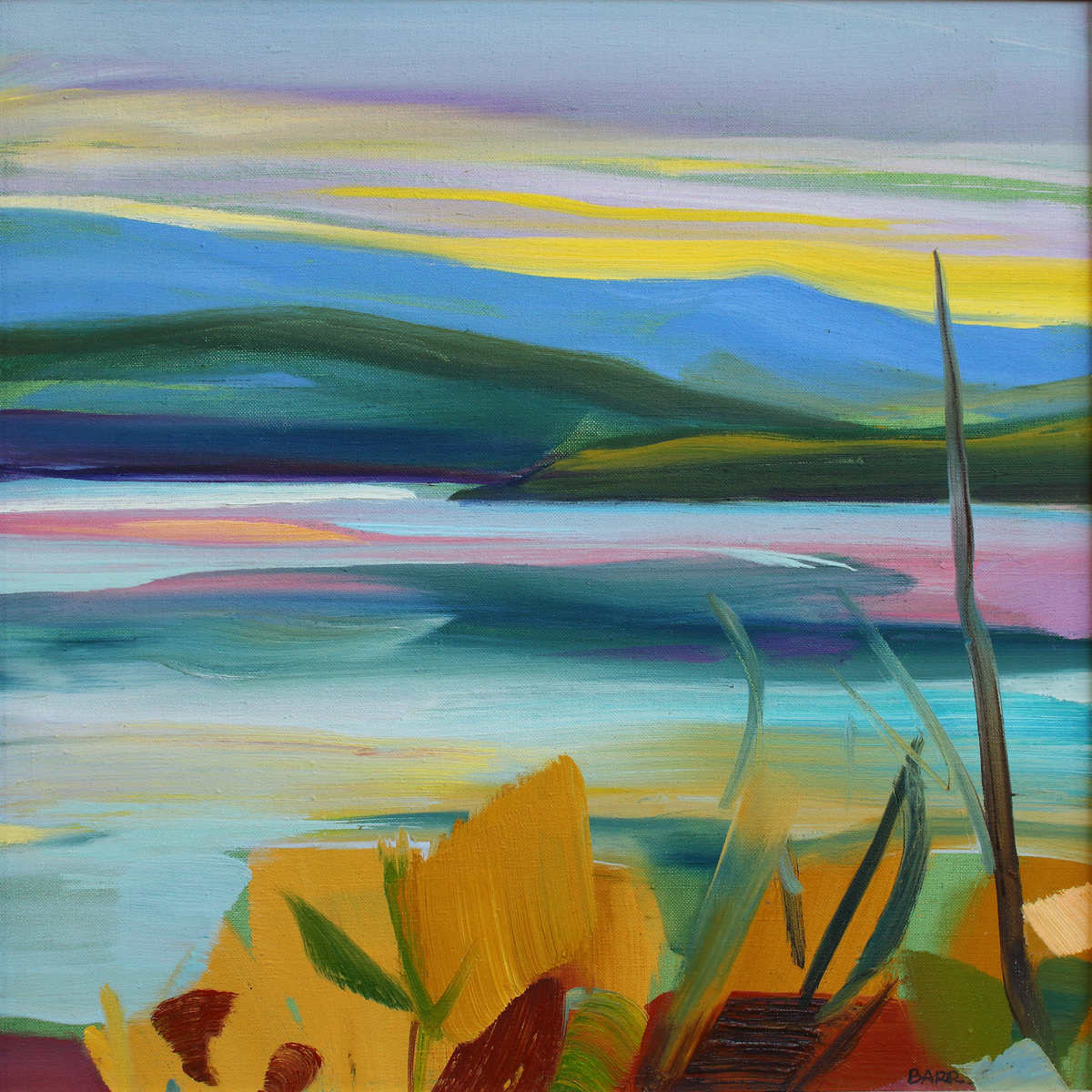 Painting titled Peaceful Loch