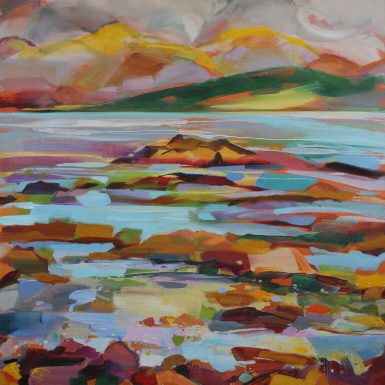 Painting titled Scintillating Sea