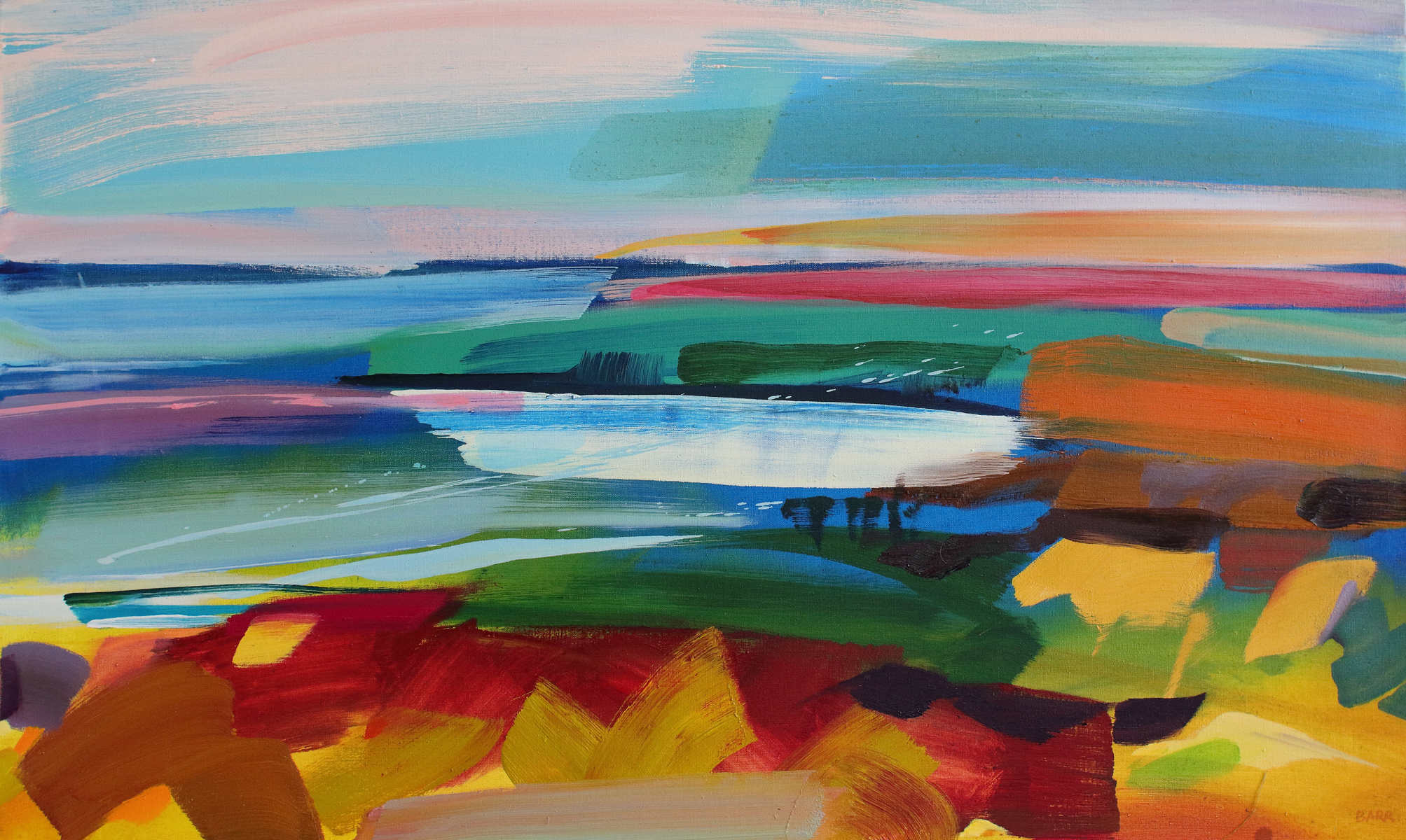 Painting titled Tentsmuir