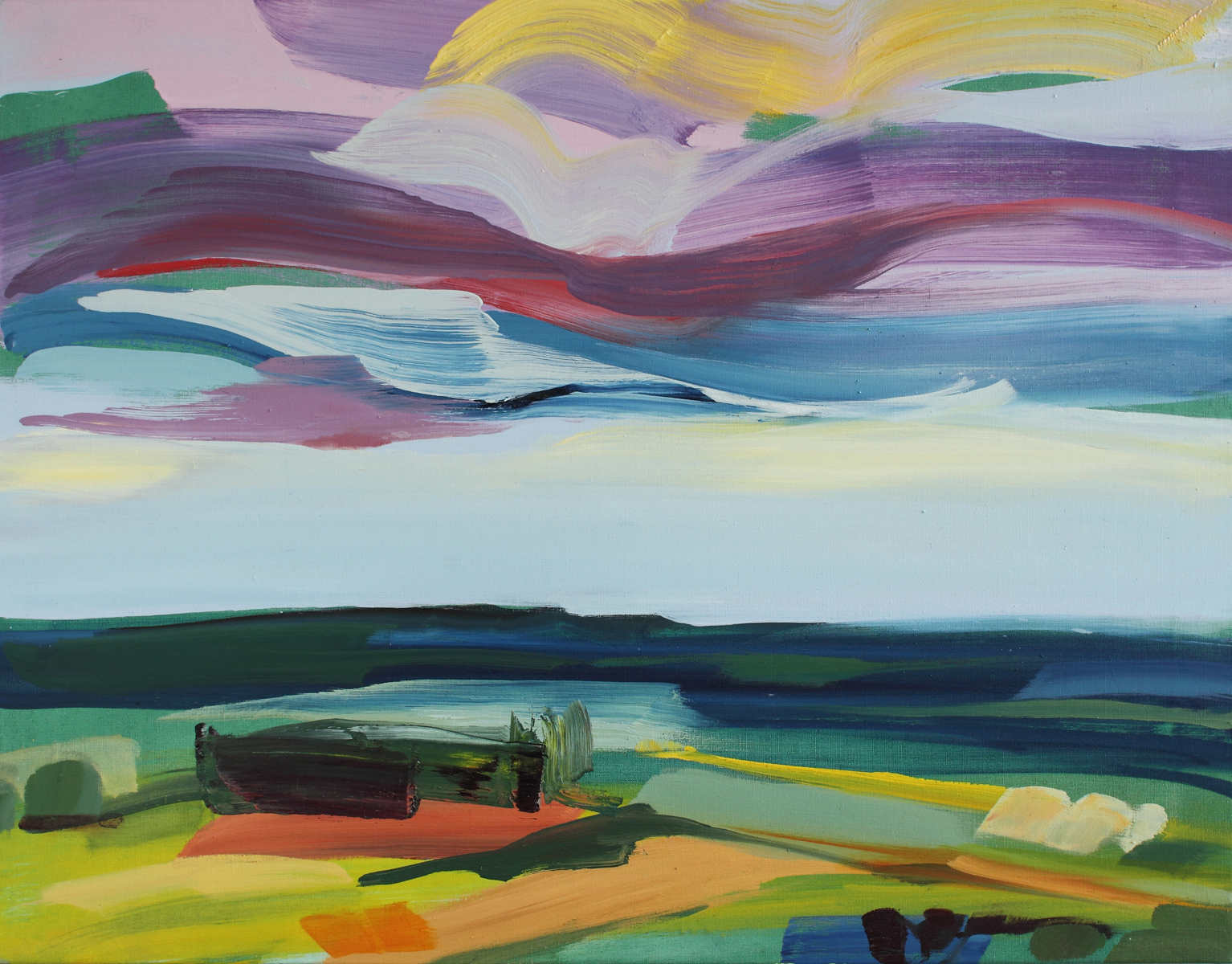 Painting titled Wild Sky