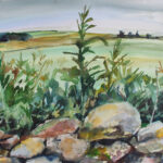 Painting of Rural Panorama by Shona Barr