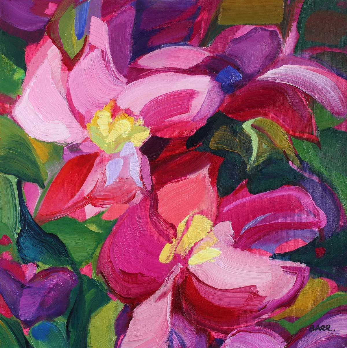 Painting titled Clematis by Shona Barr