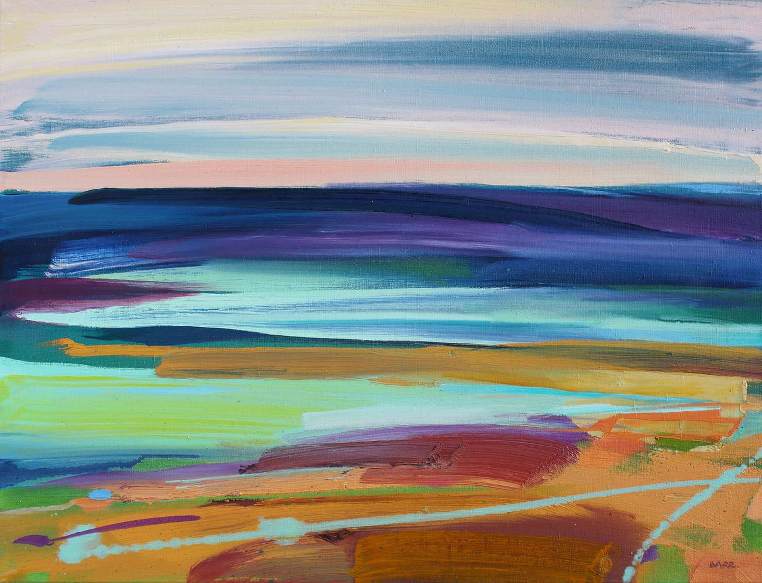 Painting titled Quiet Sea by Shona Barr