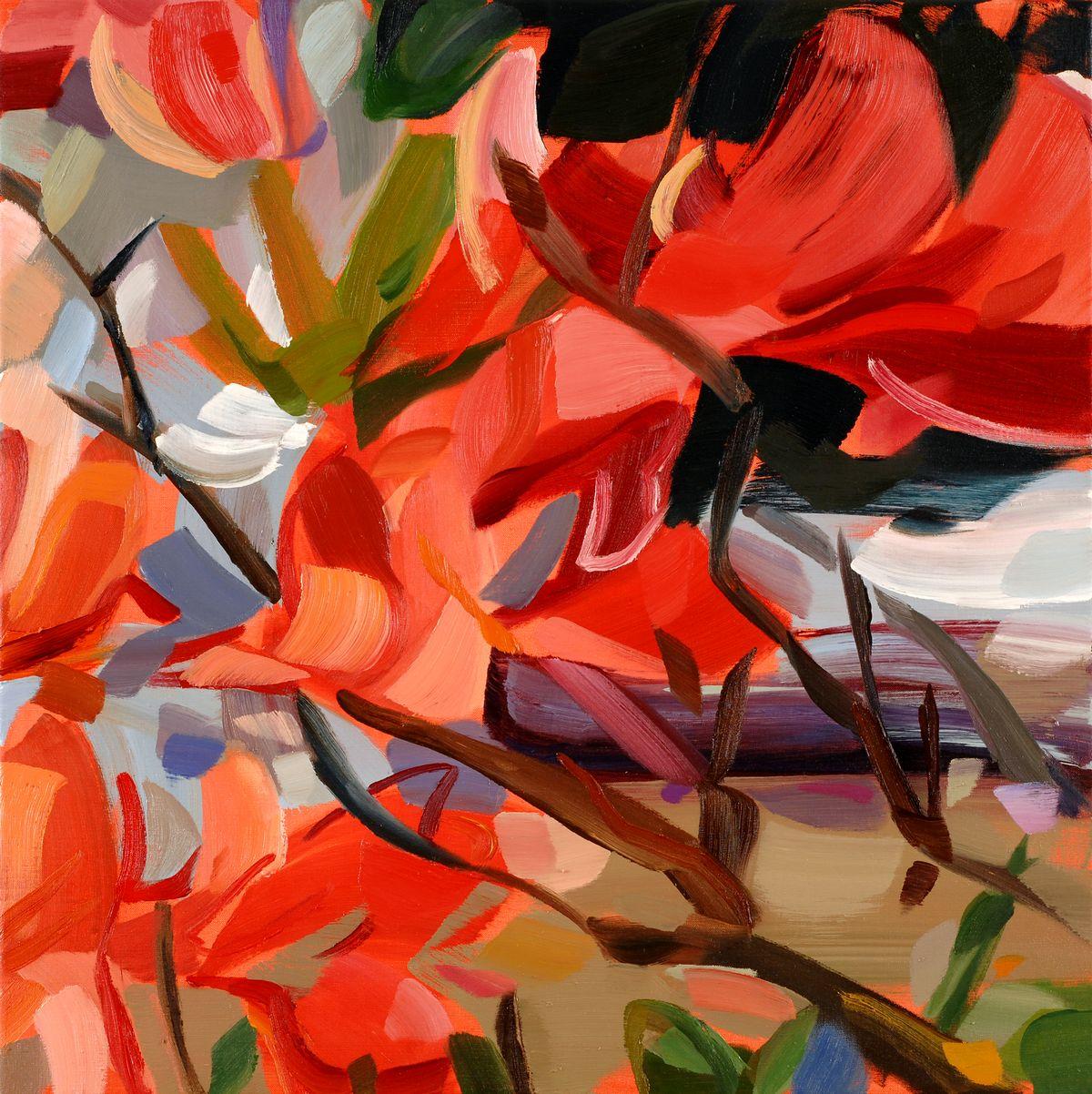 Painting titled Ruby Azalea